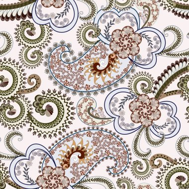 light blue paisley with fine pattern