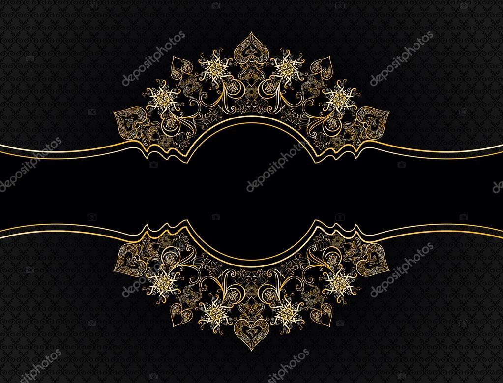 marco vintage adornado, decorado con flores de fantasía — Vector de ...