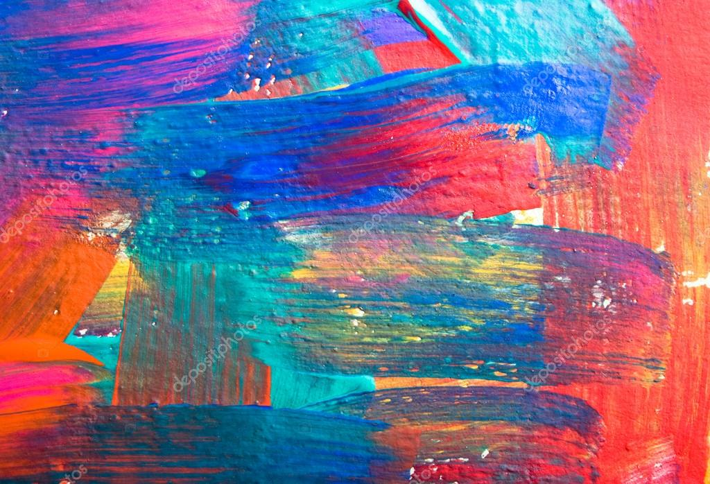 Abstract Art Backgrounds. Hand-painted Background. SELF
