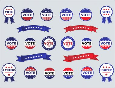 Voting Badges and Stickers for Elections