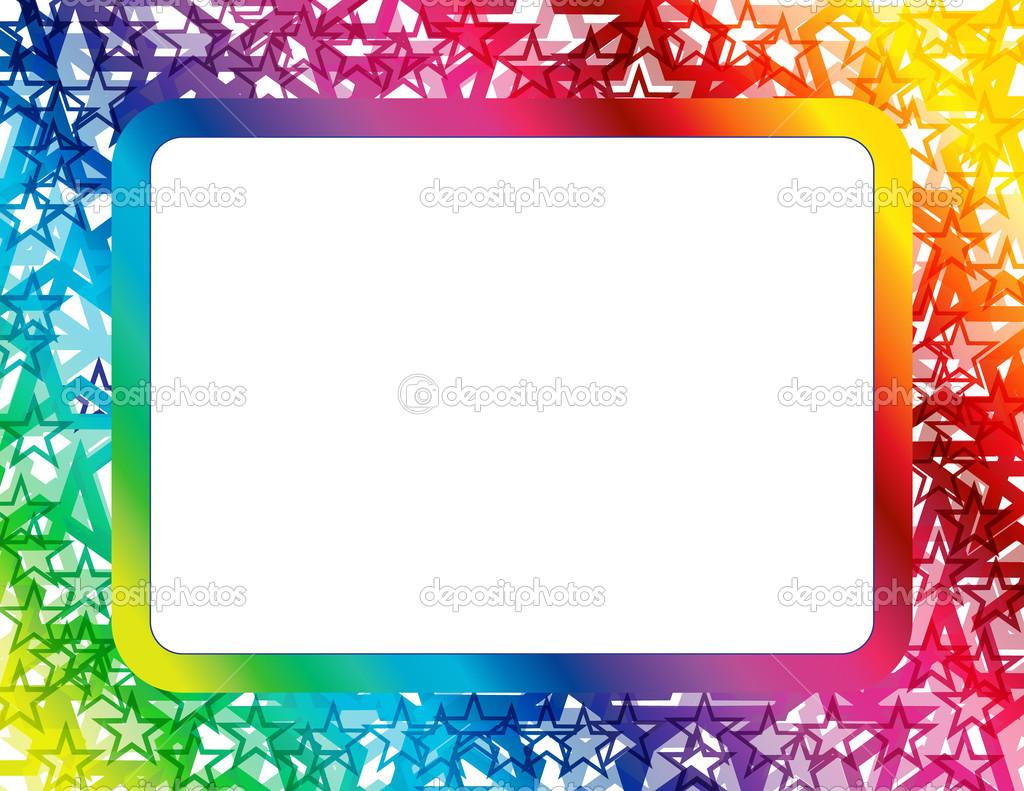 marco de estrellas espectro abstracto — Archivo Imágenes Vectoriales ...