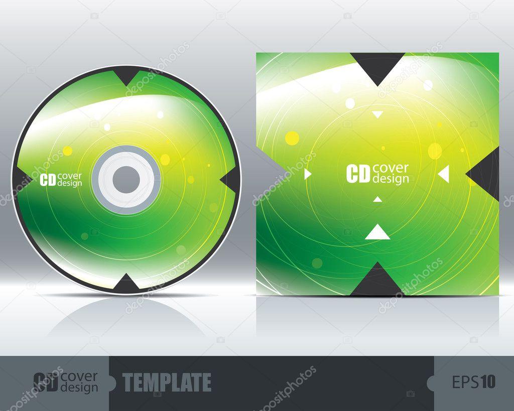 cd cover design template set 1 stock vector silici 34173637