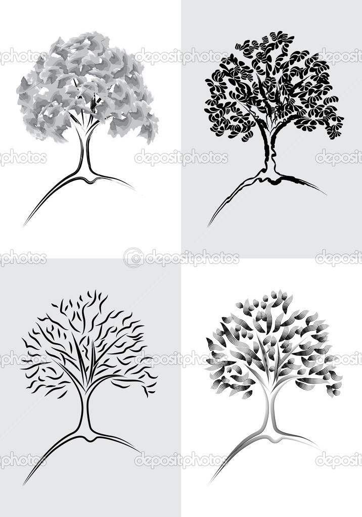 Tree Desing Element Set 1