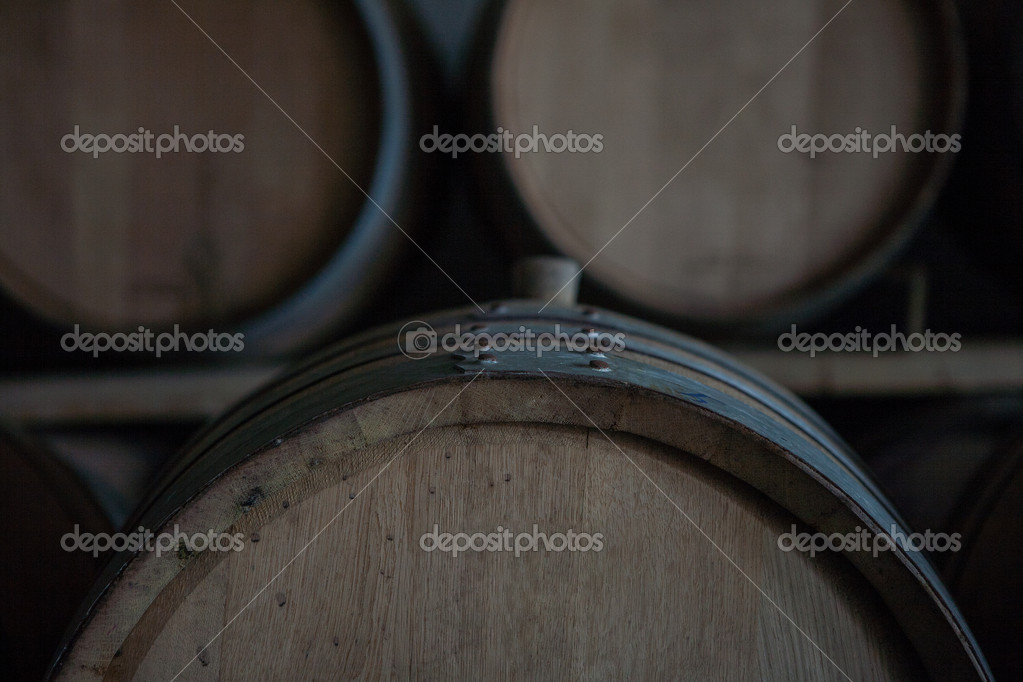 stacked oak barrels maturing red wine. Wine Barrels Stacked In The Cellar Of Winery \u2014 Stock Photo Oak Maturing Red