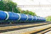 Eisenbahn-Tankwagen mit Olil