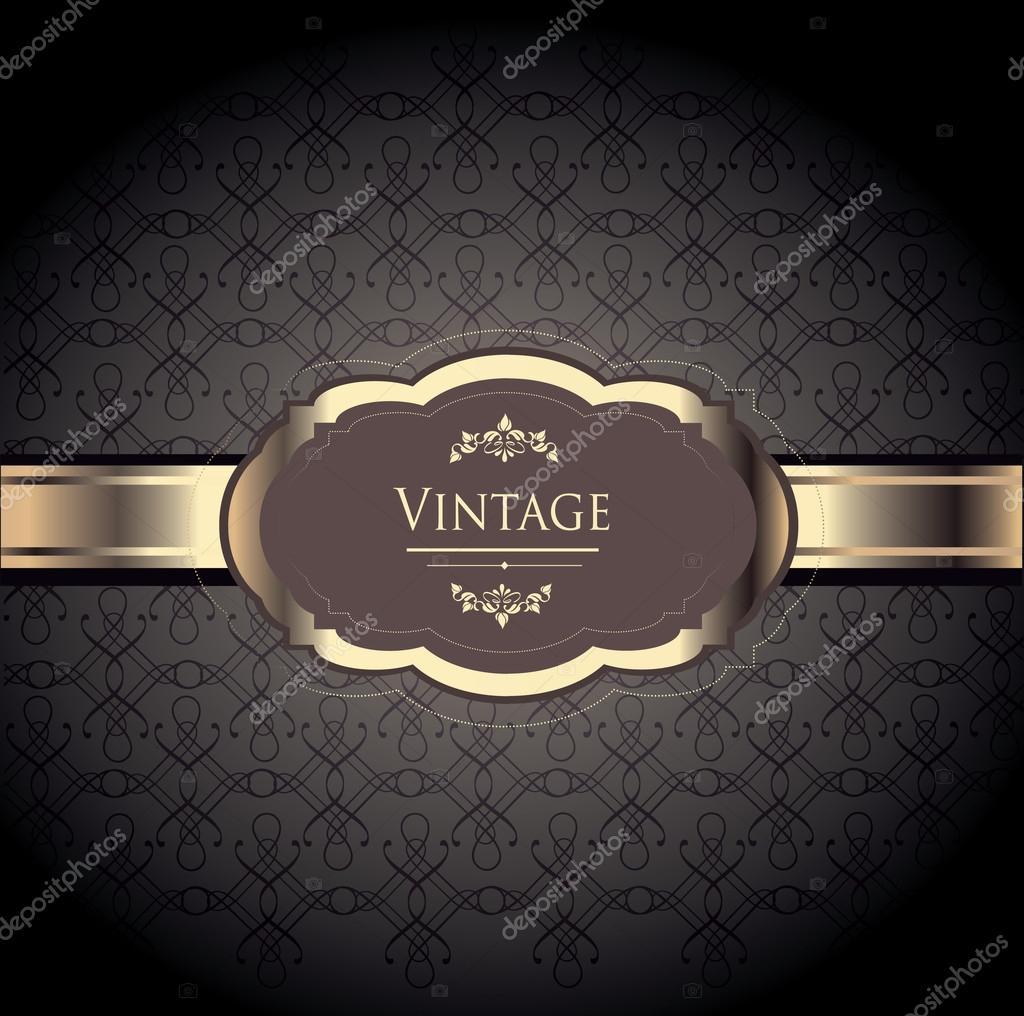 elegant vintage label stock vector alessandram 20167893