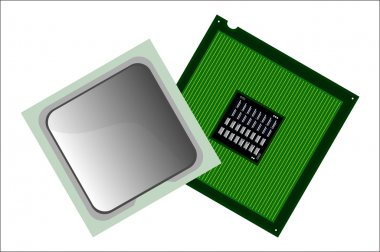 Illustration of computer CPU