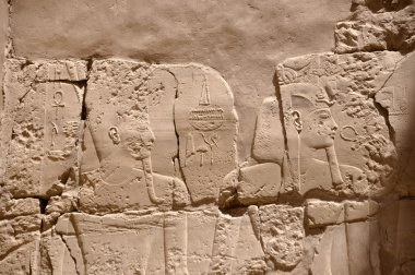 Egypt pharaoh murals on the pyramid