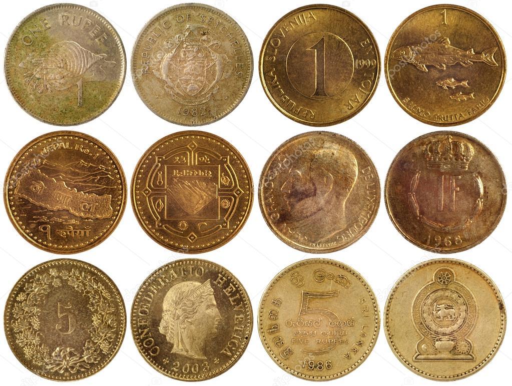 Vintage Seltene Münzen Verschiedener Länder Stockfoto Radnatt