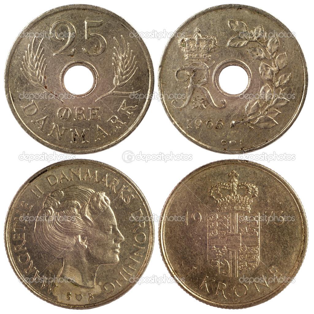 Alte Seltene Münzen Von Dänemark Stockfoto Radnatt 18232347