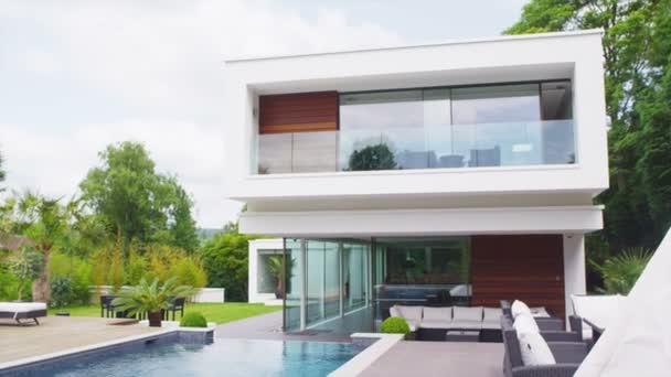 View of the exterior of a luxury contemporary home