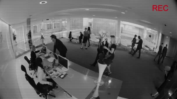 CCTV camera view of business people