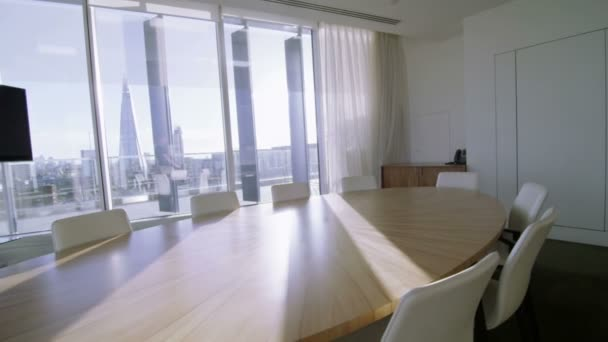 Empty meeting room in London office building