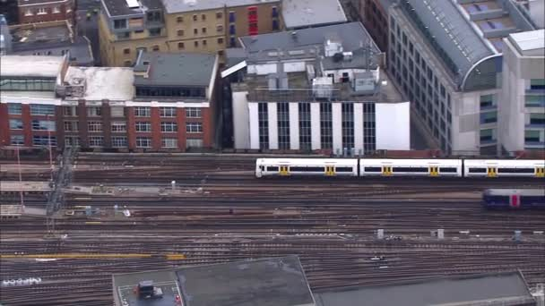 Passenger trains at London city station