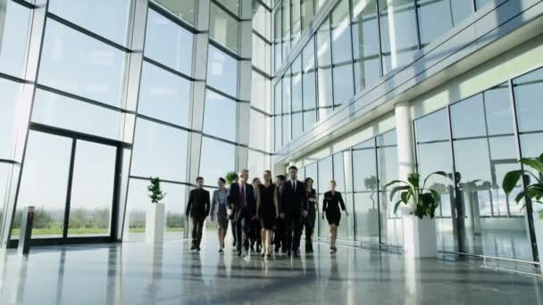 Business people in office building