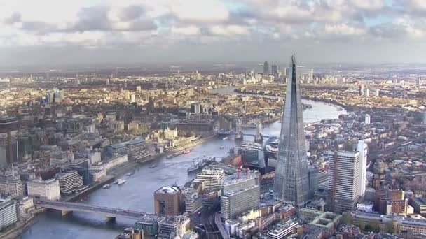 Panoramic aerial view of the London skyline and famous London skyscrapers