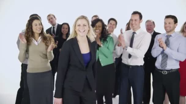Business People Clapping Standing Isolated Stock Photos & Business ...