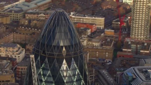 Veduta aerea dello skyline di Londra e i famosi grattacieli di Londra