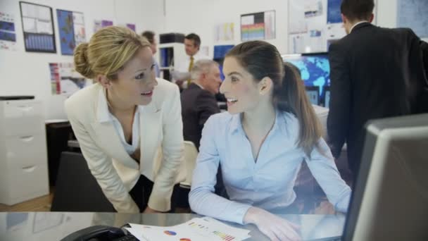 Financial traders are working in office