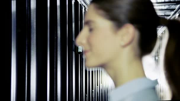IT engineer working in data centre