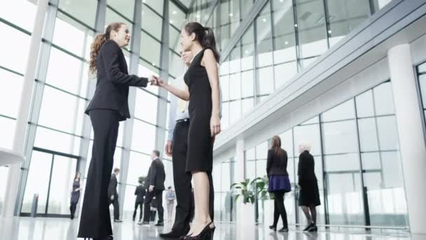 Business people meet and shake hands