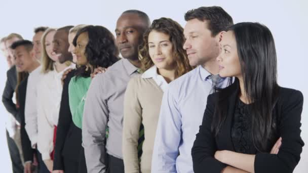 Multi ethnic business people standing together