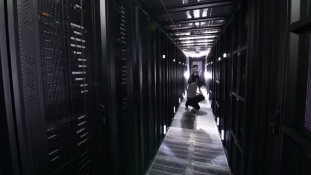 Three workers in data centre