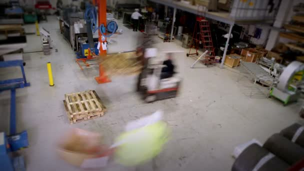 Busy warehouse or factory workers