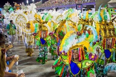 RIO DE JANEIRO - FEBRUARY 10: A womans and man in costume dancin
