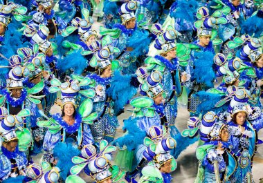 RIO DE JANEIRO - FEBRUARY 11: A womans and man in costume dancin