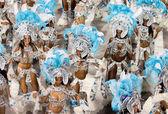 Rio de janeiro - 11. února: výkon na karneval