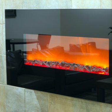 Electric fireplace background