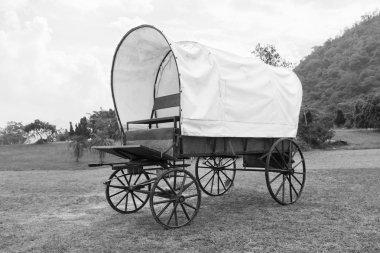 Black & White Covered wagon