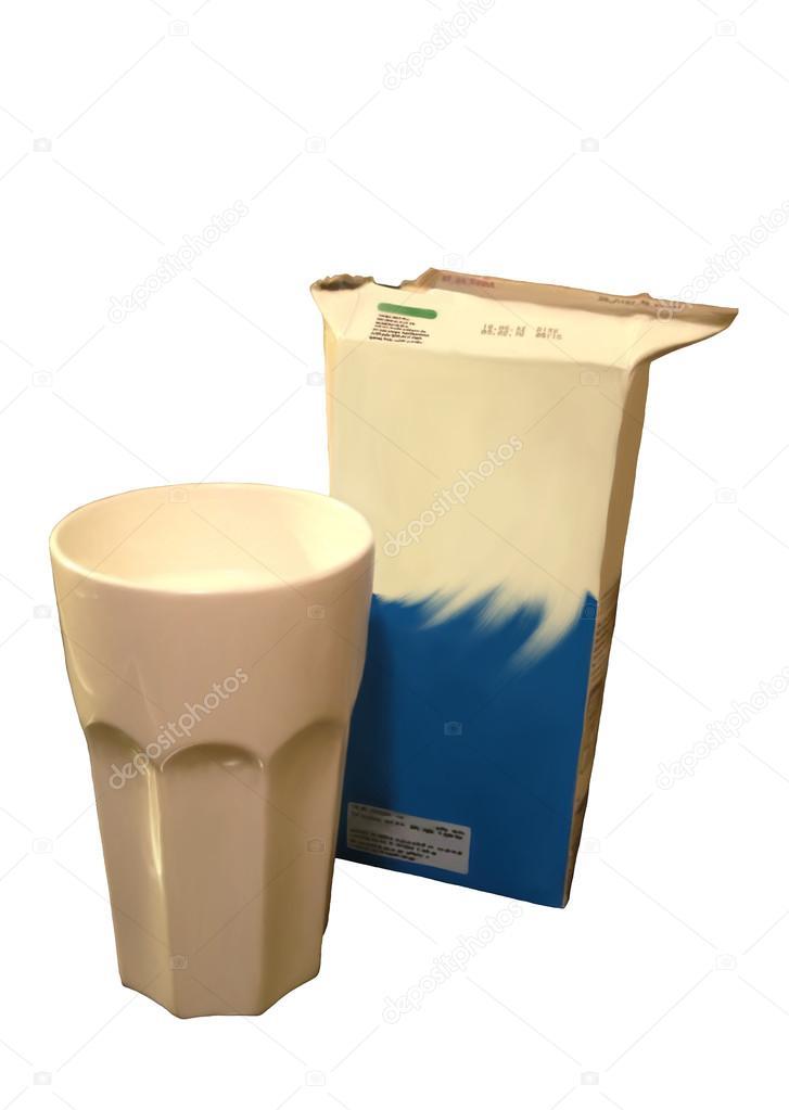 Süt Ve Bir Karton Kutu Bardak Boyama Stok Foto Jntvisual 29139121