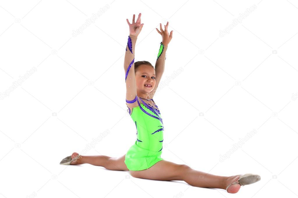 Celeb Naked Gymnast Doing Split Pic