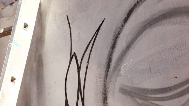 graffitik a falon
