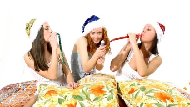 Santa Claus kalap lányok