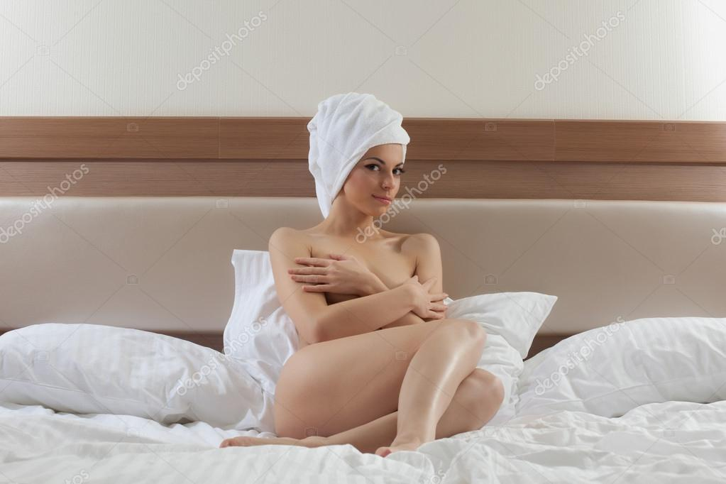 Nude With Towel On Head