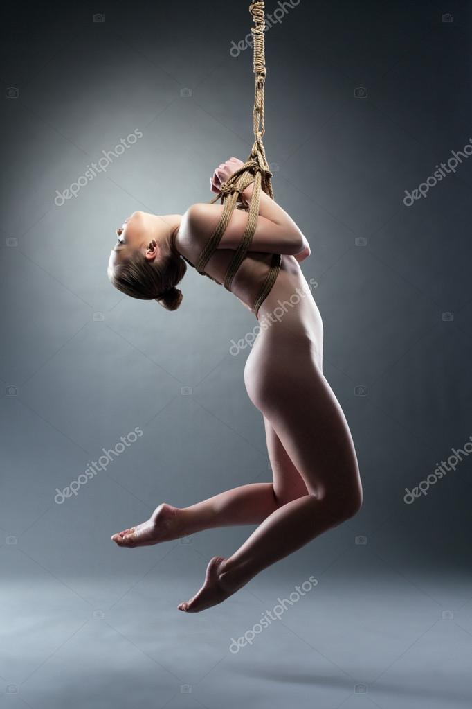 Liala nude in doll on a rope