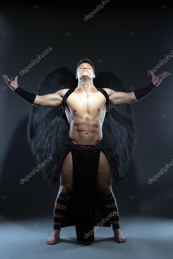 Gefallener engel kostüm mann