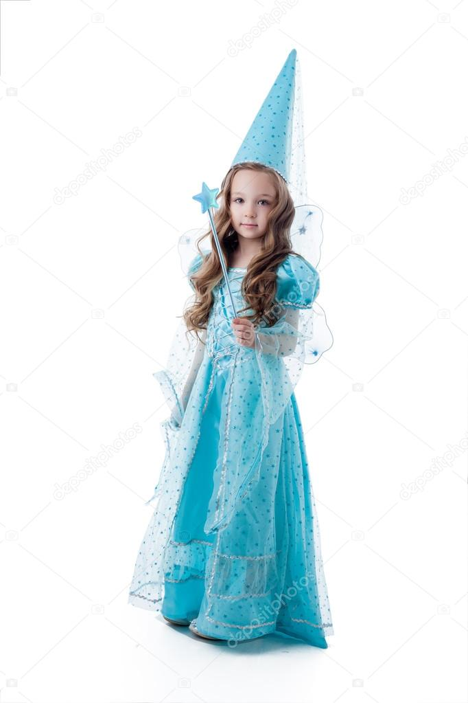 Pretty little girl posing in fairy costume u2014 Stock Photo  sc 1 st  Depositphotos : pretty fairy costume  - Germanpascual.Com