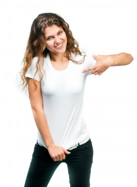 Pretty Girl With Blank TShirt