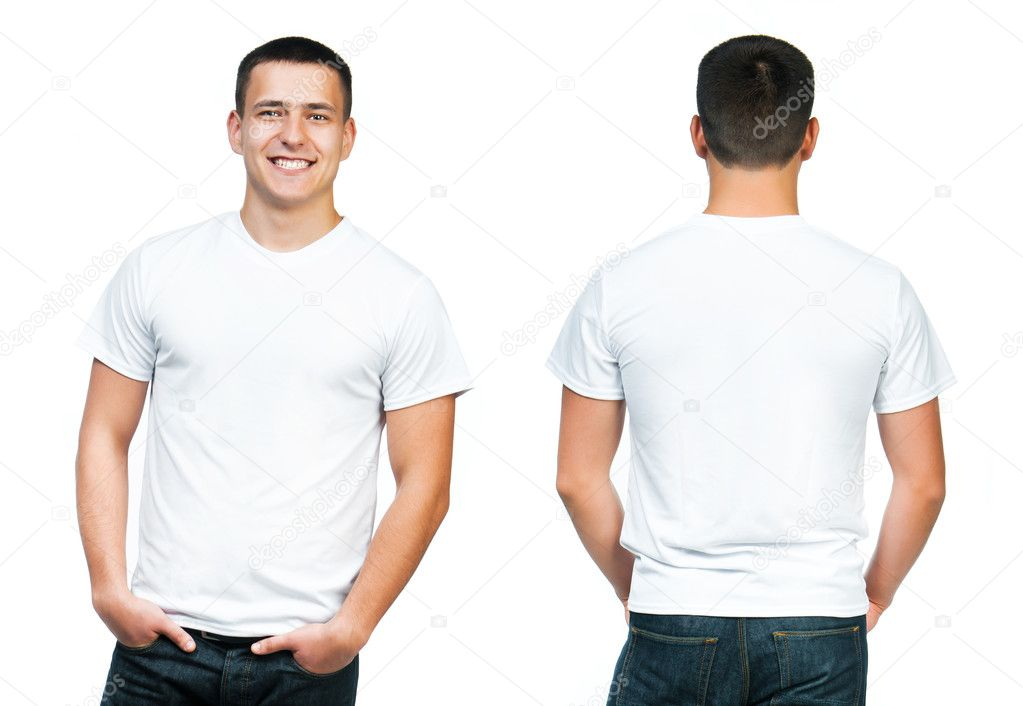Teenager With Blank White Shirt