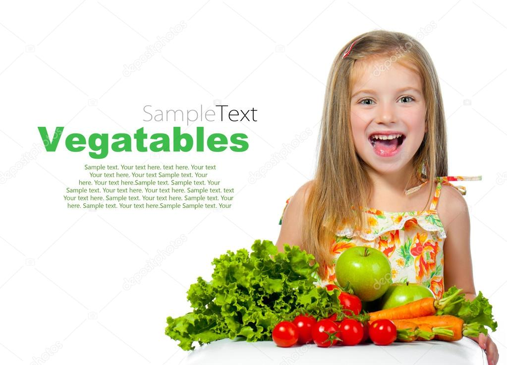 Girl teen covered with vegetables — img 14