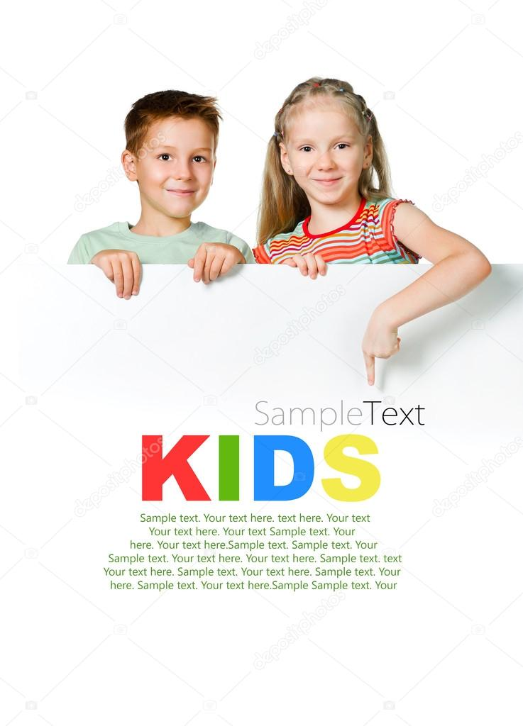 Kids with white board