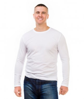 man in a white shirt with long sleeves