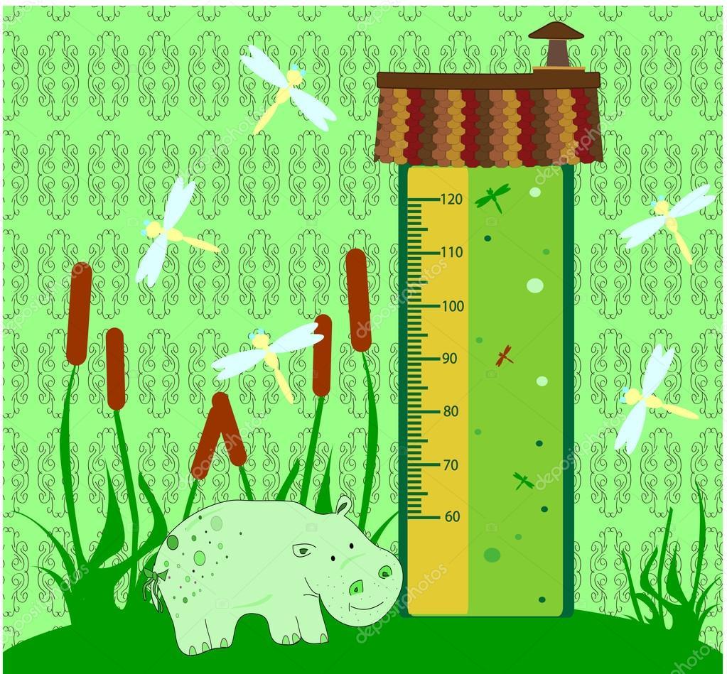 Bumper children meter wall. Stickers vector