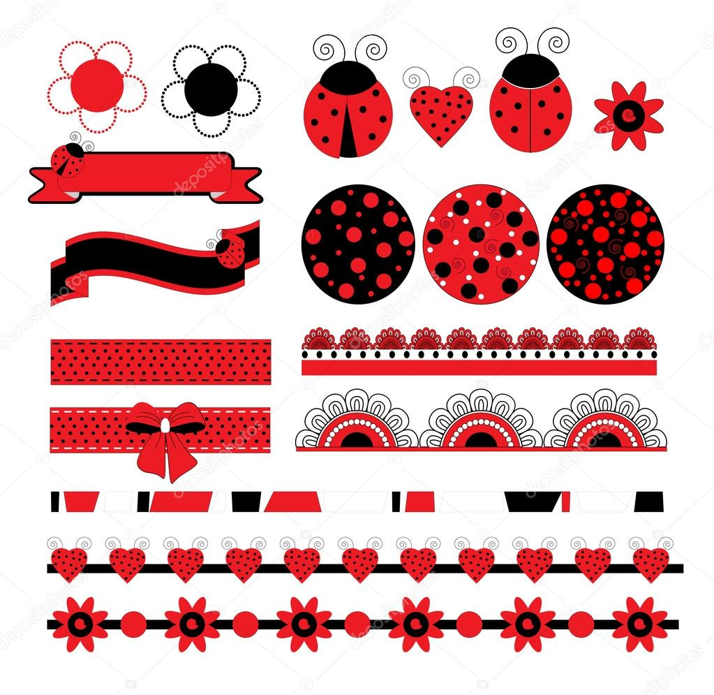 Digital vector scrapbook with ladybug stock vector yaroslavna digital vector scrapbook with ladybug art illustration vector by yaroslavna stopboris Images