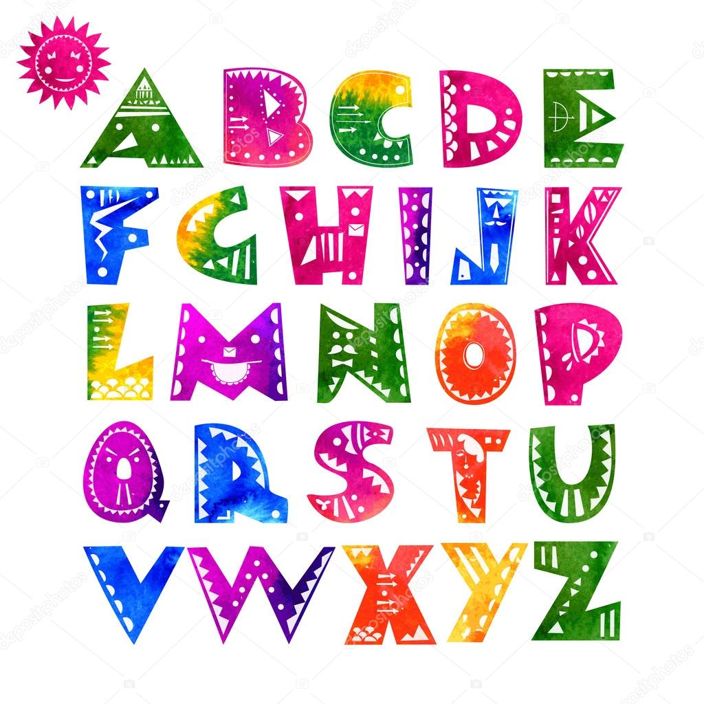 Cute alphabet letters stock vector teia 46895911 cute alphabet letters stock vector altavistaventures Images