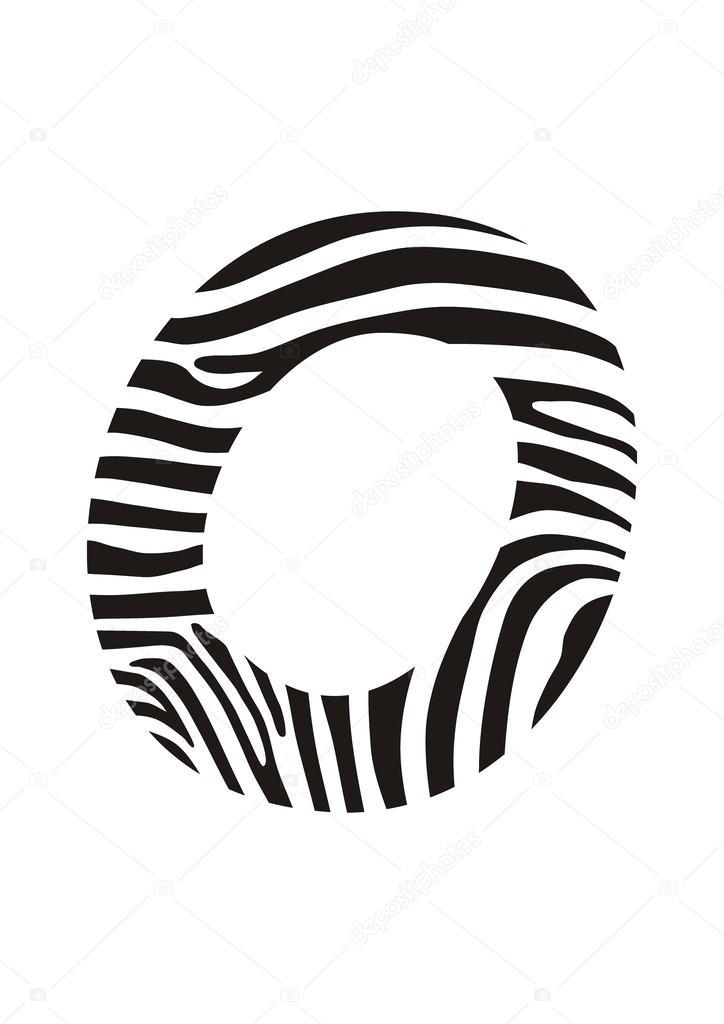 Font Zebra Letter O Stock Vector Vlado 45332993